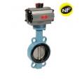 Robineti clapa fluture gaz corp GGG50  manseta NBR tipWafer PN10/16 cu actionare pneumatica