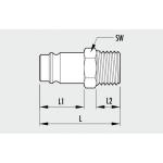 Cupla metalica rapida Tata MAGNUM- filet exterior