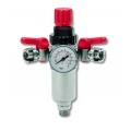 Regulator presiune cu manometru si filtru si 2 robineti RPF-187