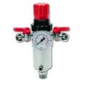 Regulator presiune cu manometru si filtru si 2 robineti RPF-188