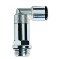 Conector metalic 90° furtun -filet alungit exterior cu o-ring