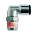 Conector metalic 90° furtun-filet swivel