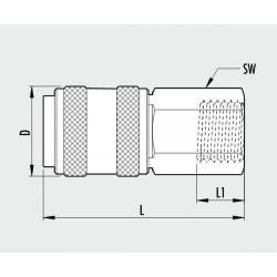 Cupla metalica rapida Mama JAP-filet interior