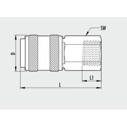Cupla metalica rapida Mama UNI-filet interior